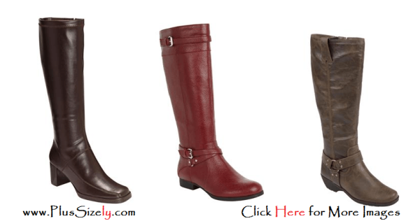 New Year Design Plus Size Leather Boots For Women IMages
