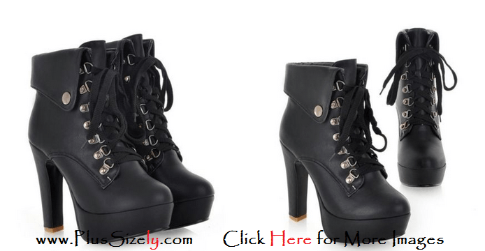 Plus Size Leather Boots for Women Images