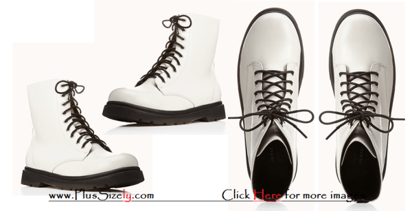 White Plus Size Boots for Women Images