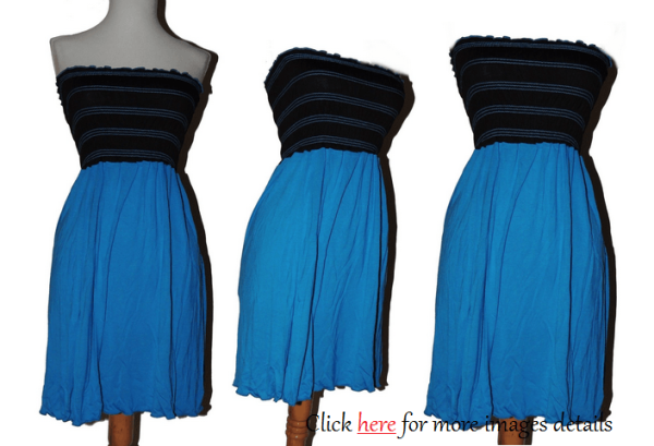Black Blue Junior Plus Size Summer Clothes Images