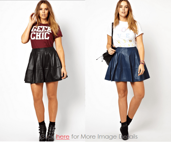 Cheap Feminine Women's Plus Size Leather Skirt Images