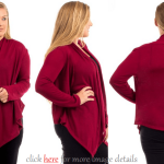 Cheap Sensual Plus Size Red Cardigan Sweaters Images