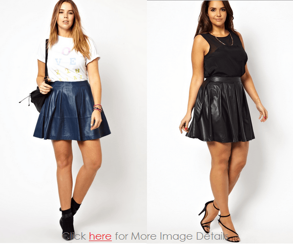 Trend Women's Plus Size Leather Skirt Images