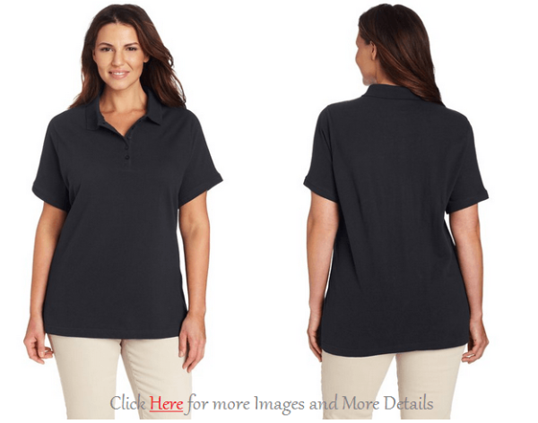 Black Plus Size Polo Shirts Image