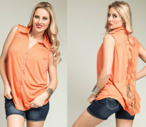 Plus Size Lace Tops: Casual With Sleeveless Ones