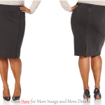 Cute Plus Size Leather Skirt IMages