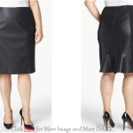 Trendy Plus Size Leather Skirt Images