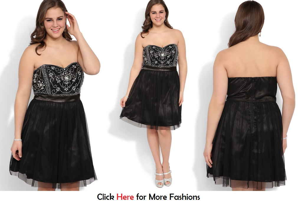 Plus Size Short Prom Dresses For Girls Black Elegant Plus Size Short