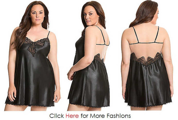 Black Trendy Plus Size Nighties Images