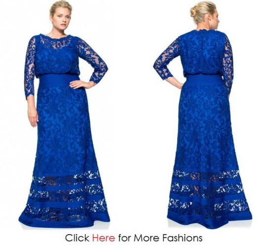 Blue Elegant Evening Gowns Plus Size Images
