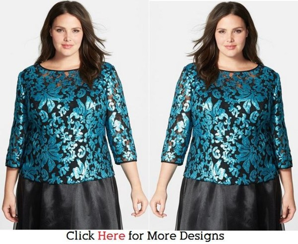 Casual Plus Size Sequin Tops Images