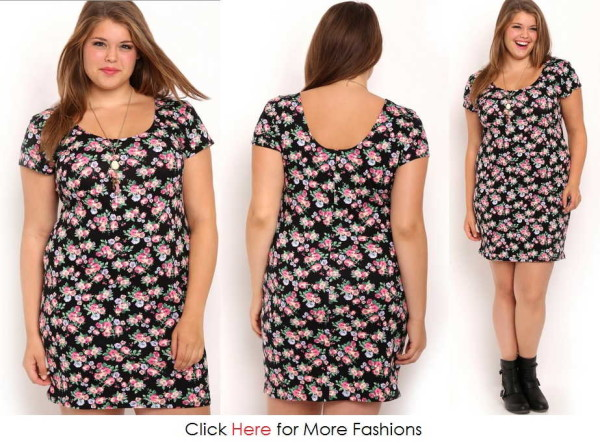 Flower Pattern Cheap Junior Plus Size Clothing Images