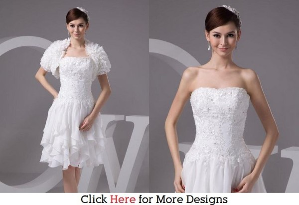 Glamorous Cheap Short Wedding Dresses Images
