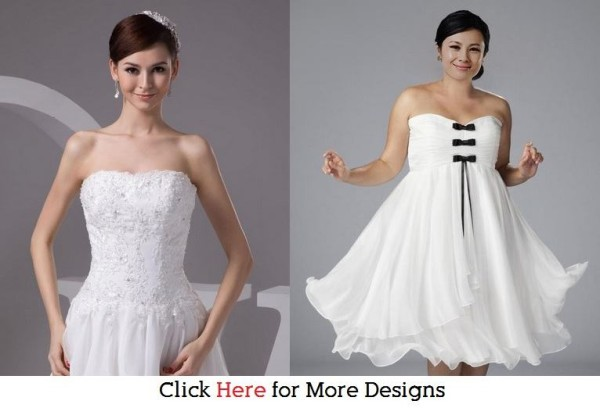 Tall and Big Glamorous Cheap Short Wedding Dresses Images