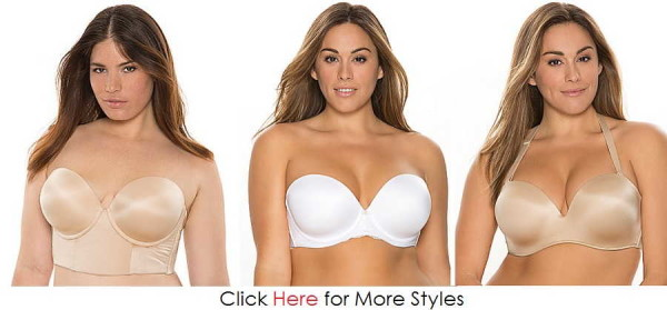 Trend Female Plus Size Strapless Bra Images