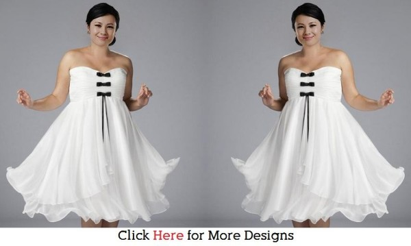 White Glamorous Cheap Short Wedding Dresses Images