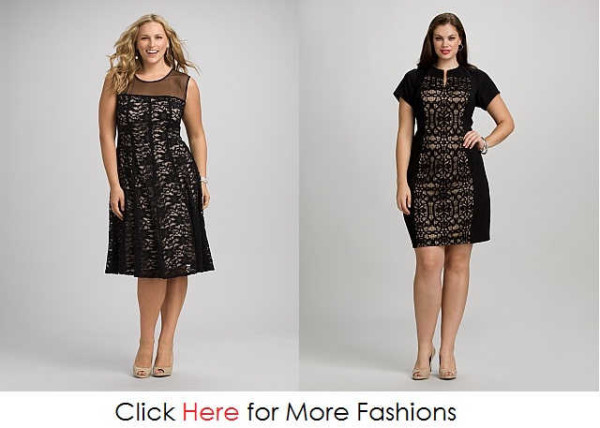 Black Night Clothes Plus Size Lace Dresses Images