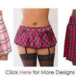 Plus Size Plaid Skirt For A Memorable Intimate Moment