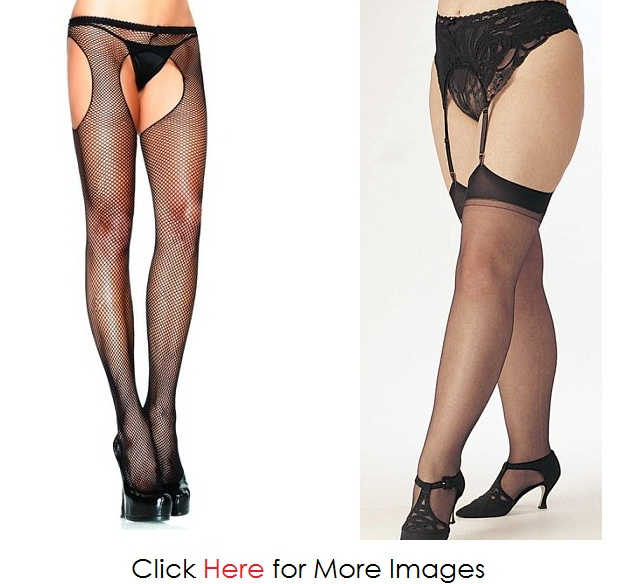 Feminine Black Plus Size Stockings Images