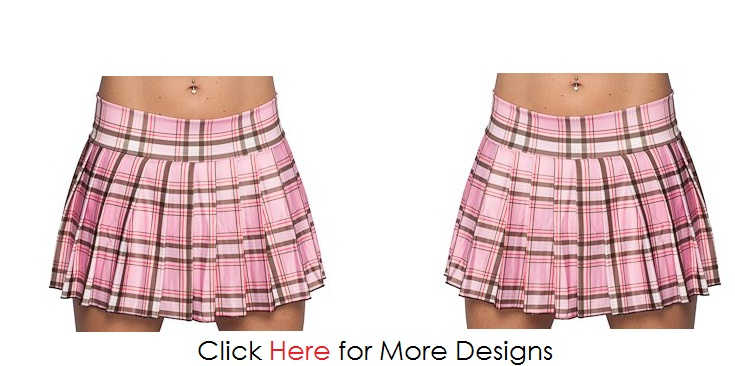 Pink Trend Plus Size Plaid Skirt Images