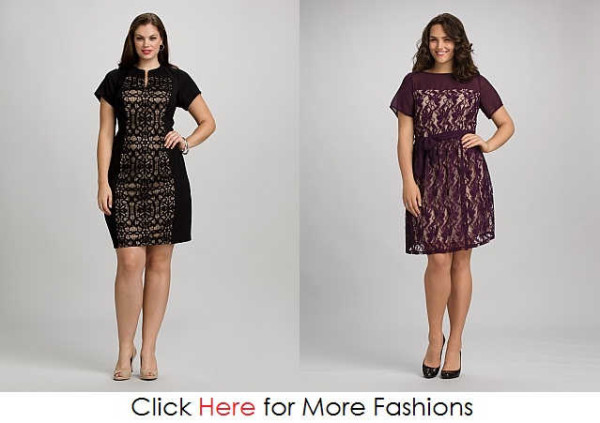Plus Size Lace Dresses Images