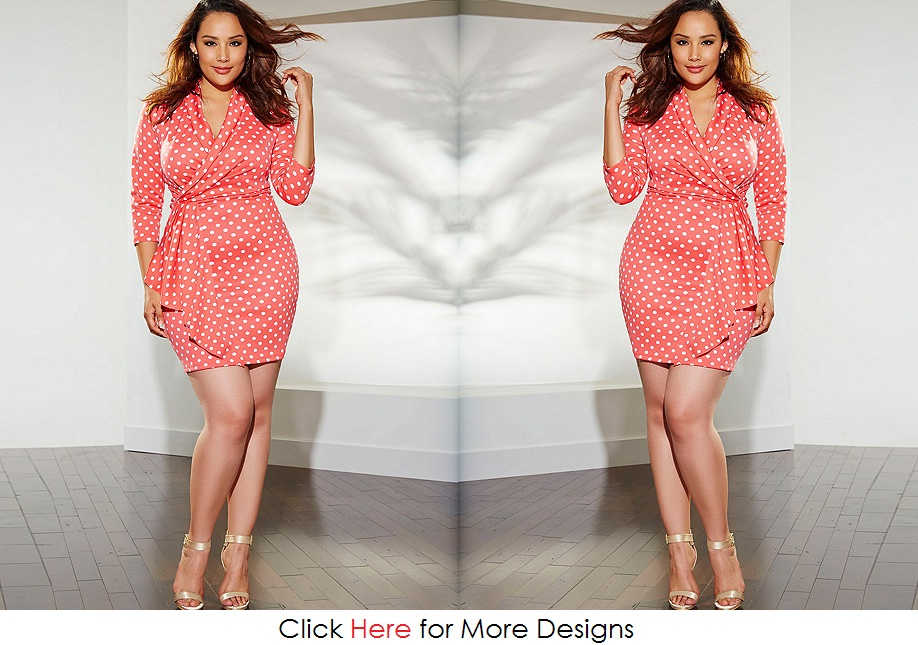 Polkadot Cheap Plus Size Clothing For Women Images