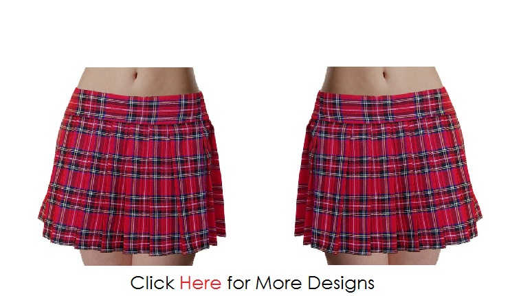 Red Plus Size Plaid Skirt Images