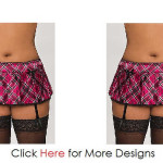 Sensual Night Clothes Plus Size Plaid Skirt Images