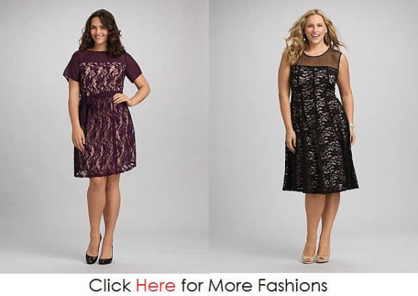 Transparancy Plus Size Lace Dresses Images