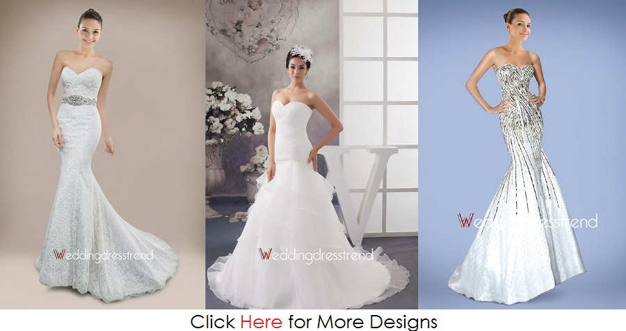Variant Style Cheap Mermaid Wedding Dresses Images